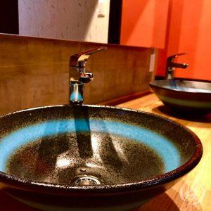 信楽焼の洗面器